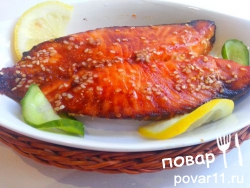 Рыба в кунжуте