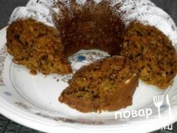 Кекс с морковью, цедрой апельсина и орехами