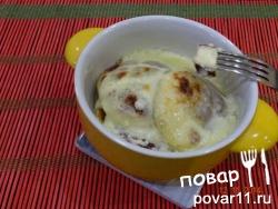 сырники, запечённые в сметанном креме: