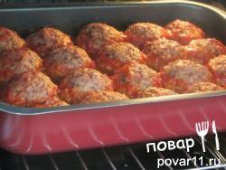 Лосино-свиные тефтельки в томатном соке