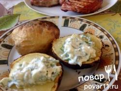 Печёный картофель на углях