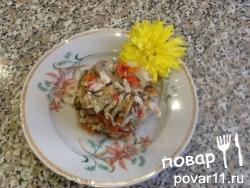 Вкусный и сытный салат